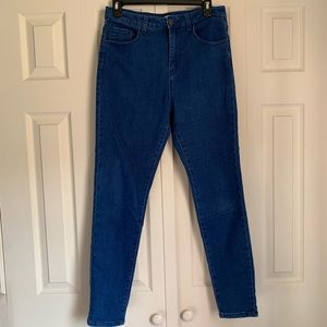Forever 21 High-Waisted Deep Blue Jeans Size 30